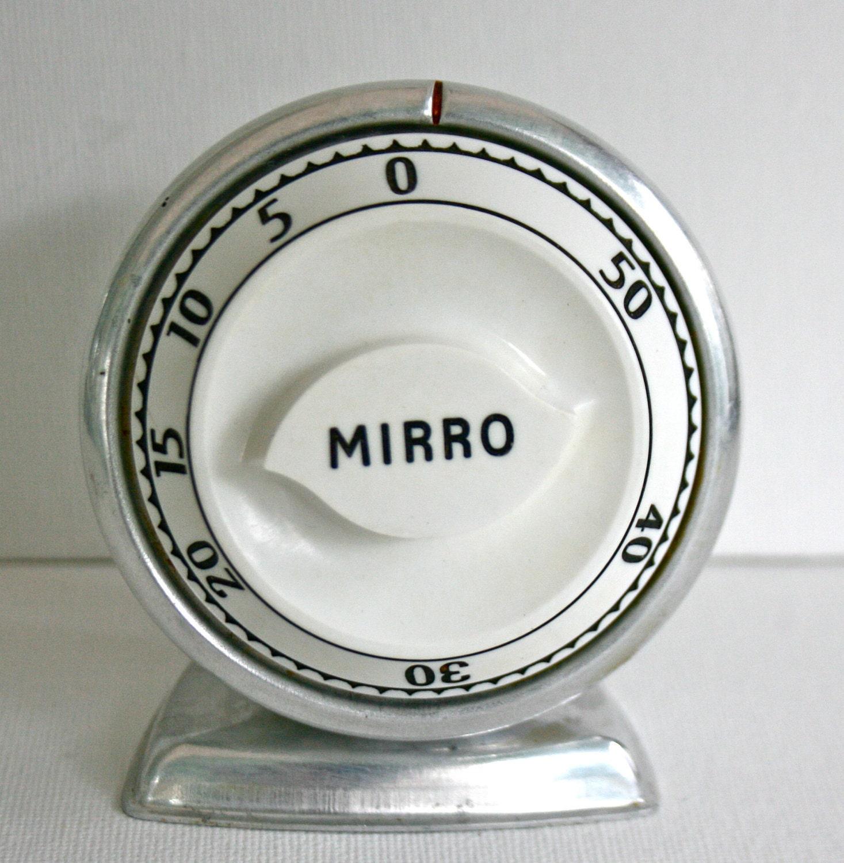 Vintage Mirro Lux Kitchen Timer Retro Aluminum By