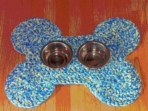 Crocheted Dog Bone Mat Pattern by crochetdiva on Etsy