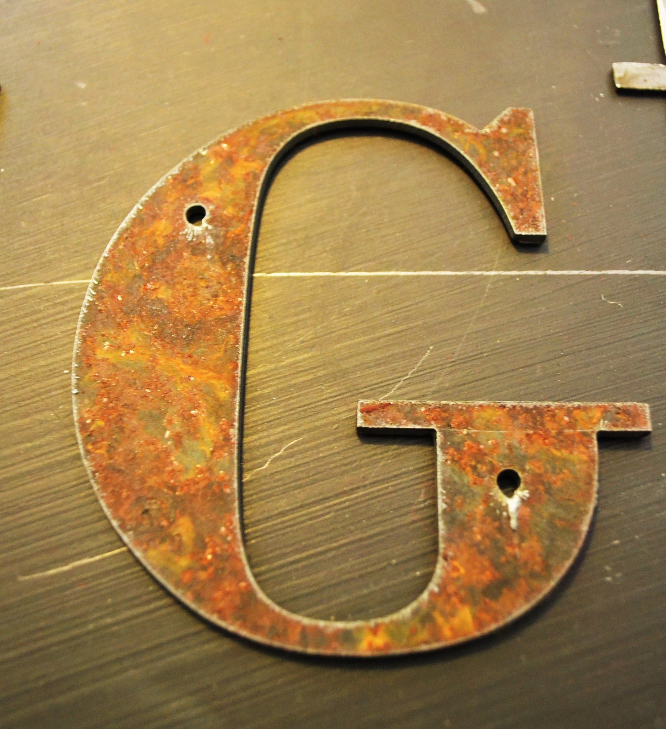 Rustic Metal Letters 4 inch tall