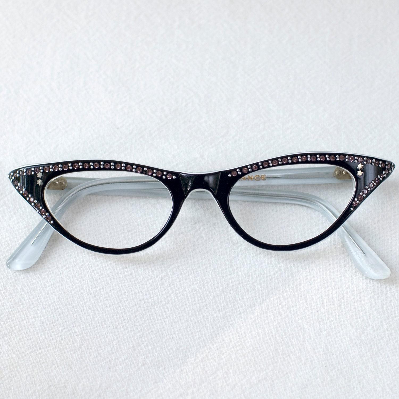 Small Frame Cateye Glasses : Cat Eye Glasses Frame France Vintage by My3Chicks on Etsy