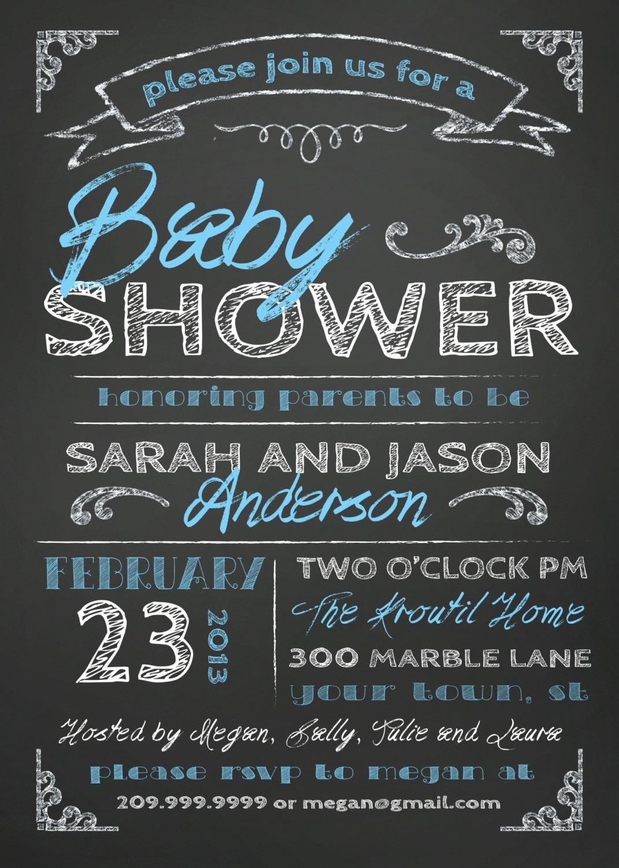 COUPLES BABY SHOWER invitation chalkboard by SLDESIGNTEAM ...