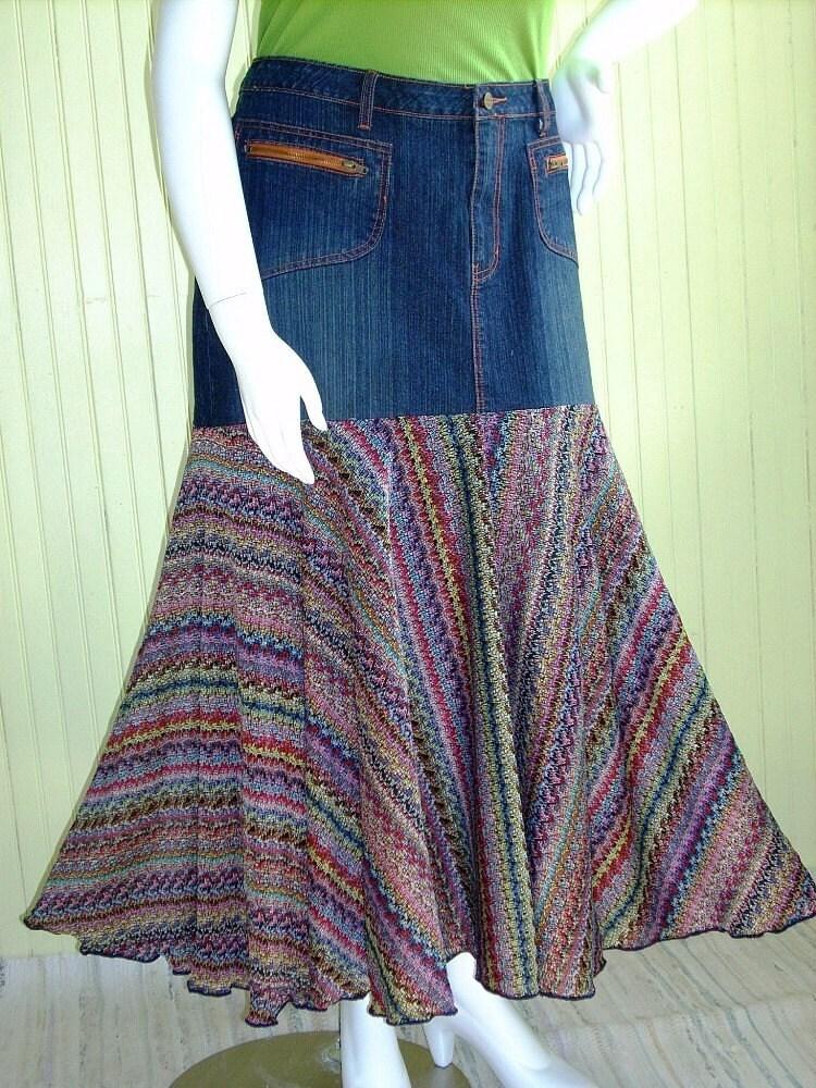 plus size denim skirt size 20 22 by brendaabdullah