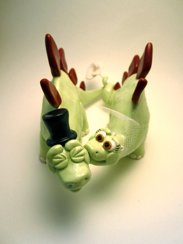Dinosaur Cake Decorations Toppers : Stegosaurus Dinosaur Bride and Groom Custom Animal by Tobbers