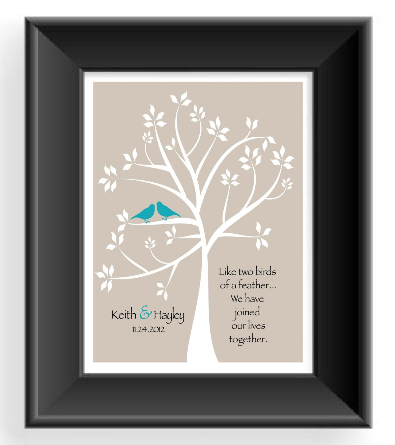 First Anniversary Gift- Gift for Husband- Custom Couple Gift -Wedding ...