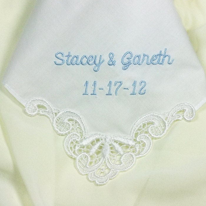 Personalized Wedding Handkerchief Bride By