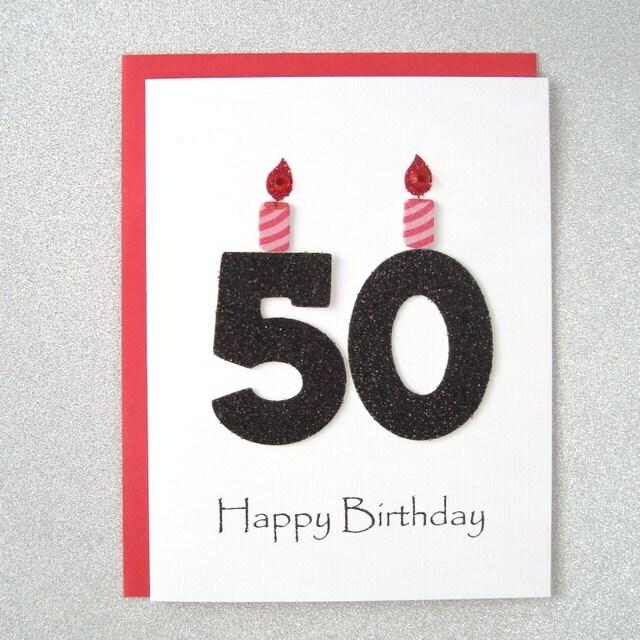 50th Birthday Card Milestone Birthday Greeting By ZeeBestCards