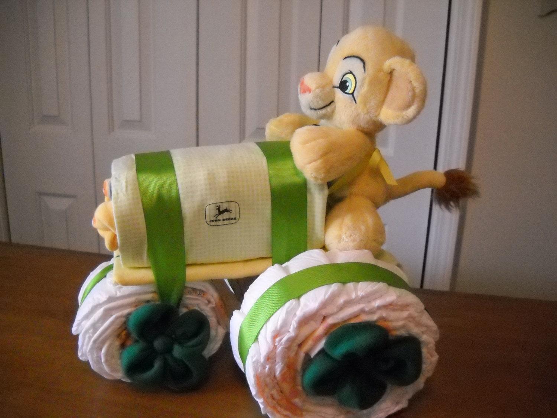 John Deere Diaper Tractor : John deere tractor diaper cake by shelvasdiapercakes on etsy