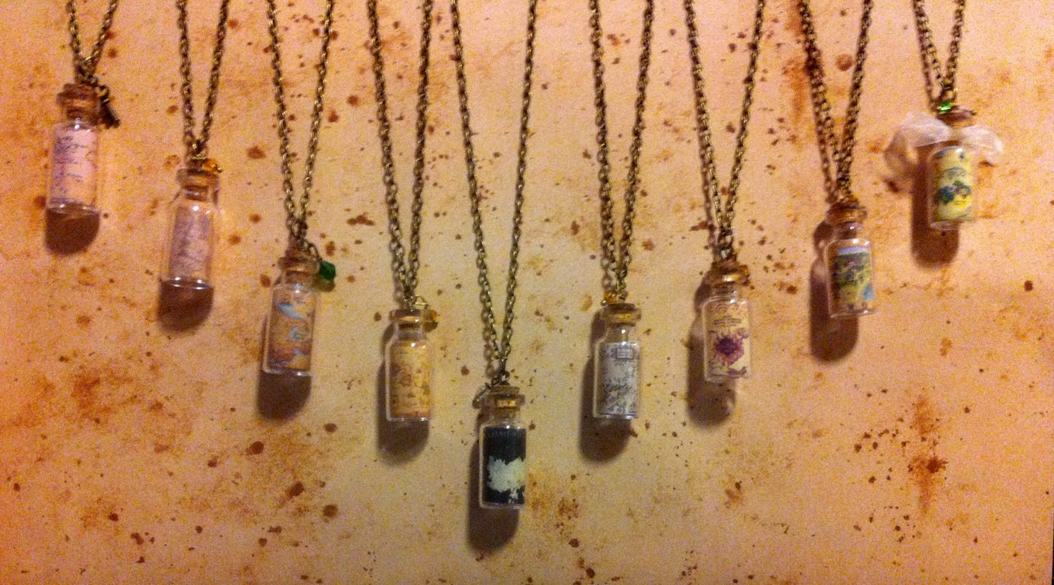Fantasy Map Vial Necklace Collection (Featuring Middle Earth, Neverland, Hogwarts, Narnia and more) - KawaiiCandyCouture