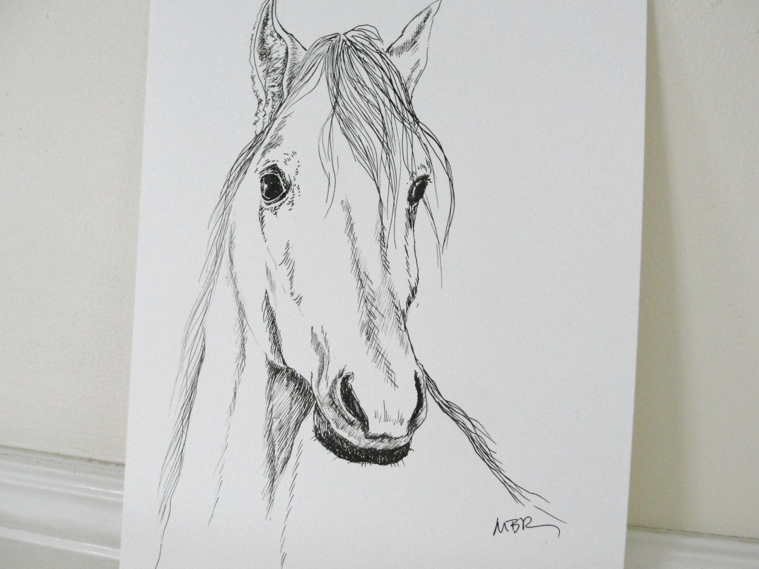 Horses drawings in pencil step by step - photo#7