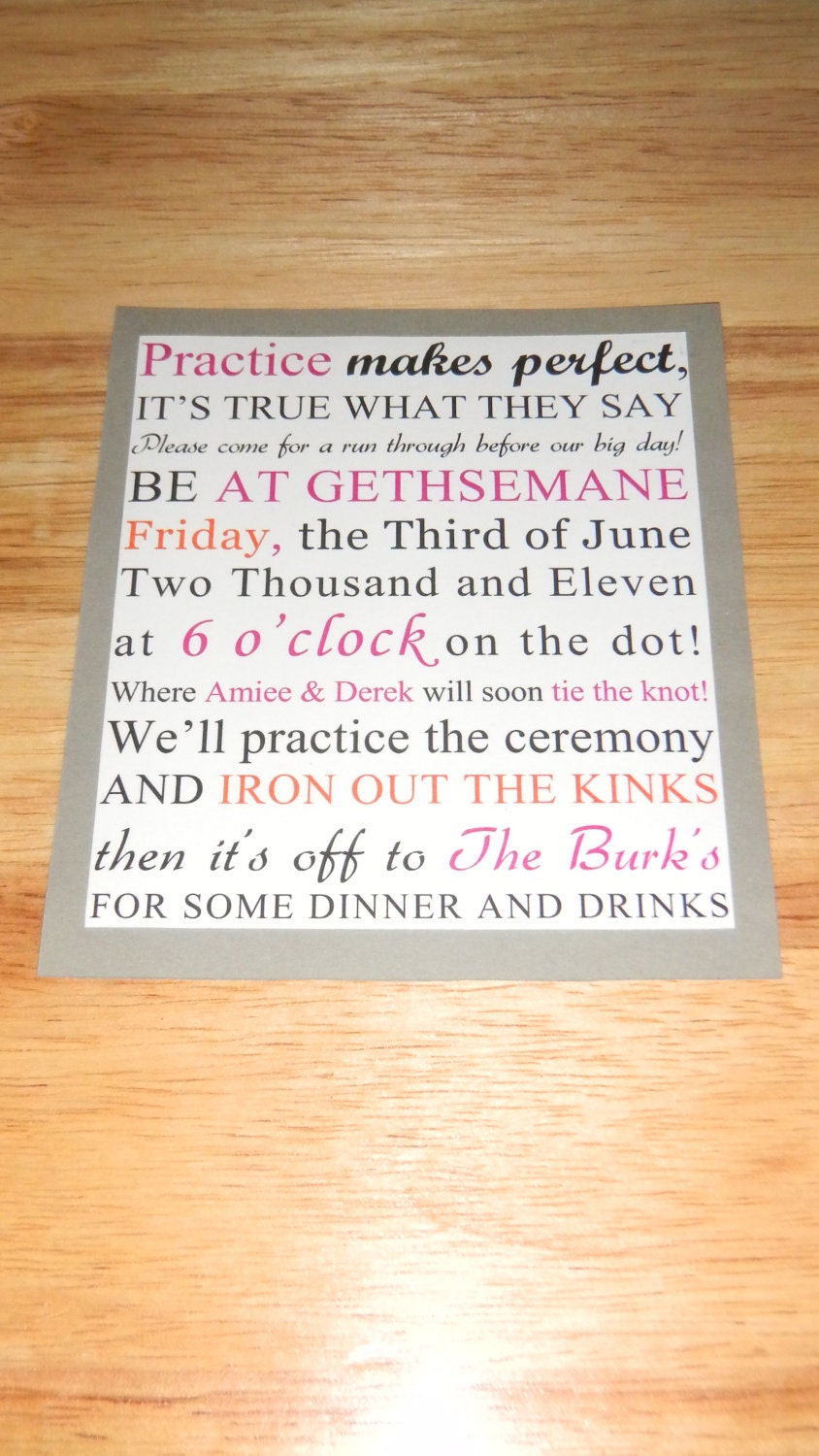 Rehearsal Dinner Invitations Etsy could be nice ideas for your invitation template