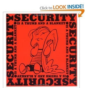 Peanuts, Security is a Thumb and a Blanket printed 1971 - RBHoweDesigns