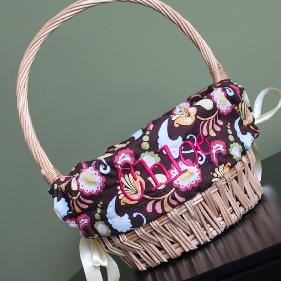 Personalized Easter Basket Liner Embroidered With Your