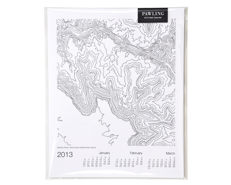 2013 Topographic Wall Calendar