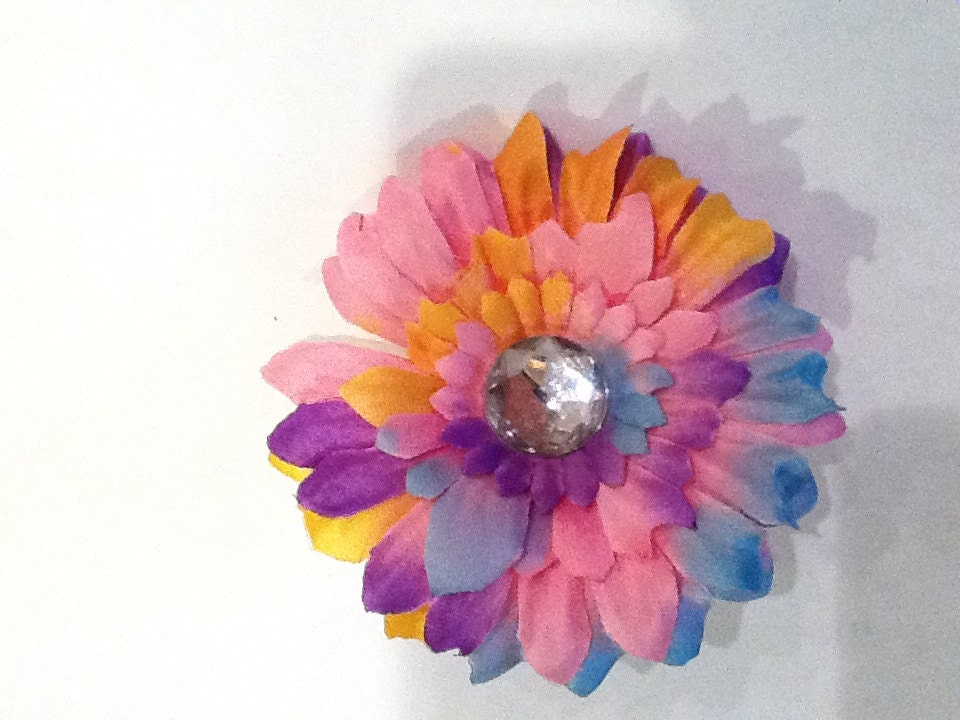 12 3 Inch Pink Tye Dye Daisy Flowers By Wholesaleflowers
