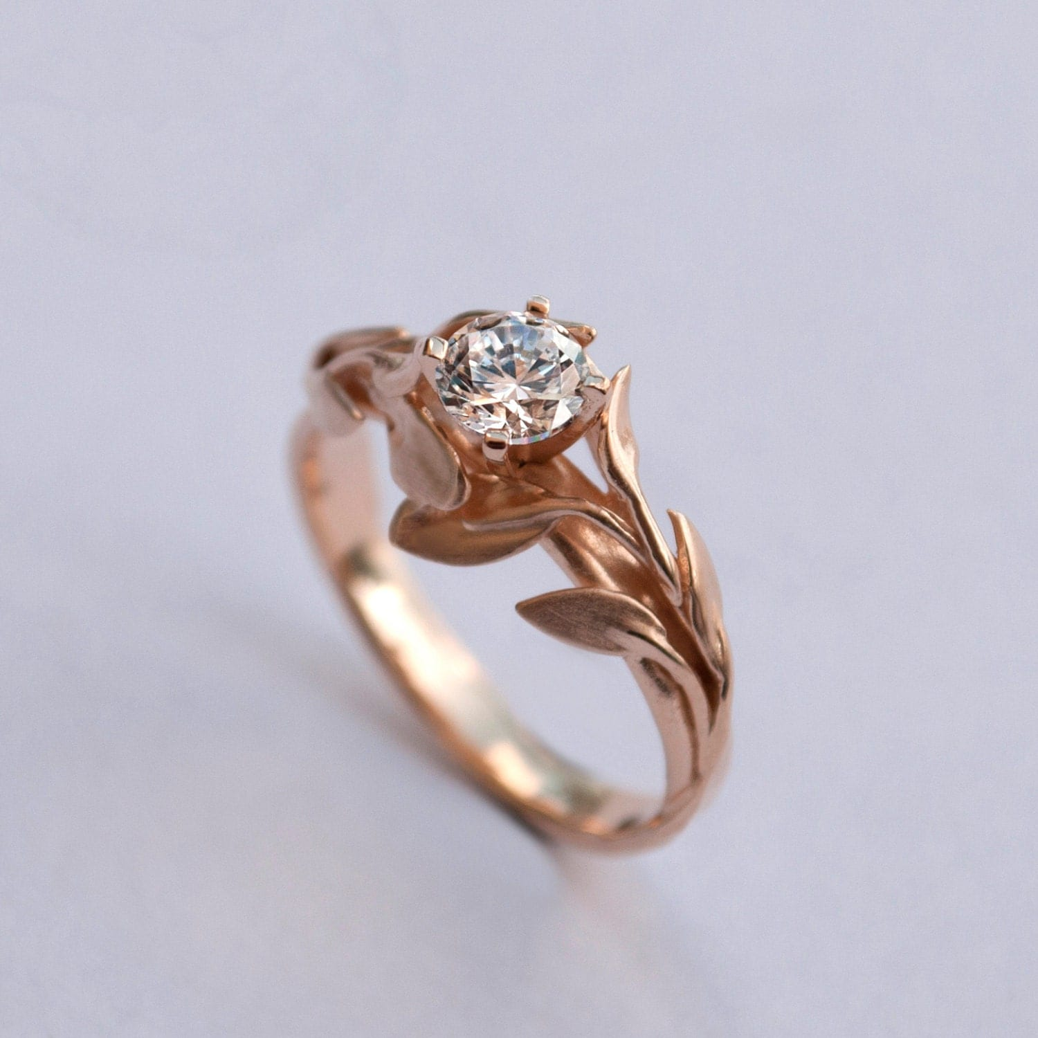 Gold Engagement Rings Etsy