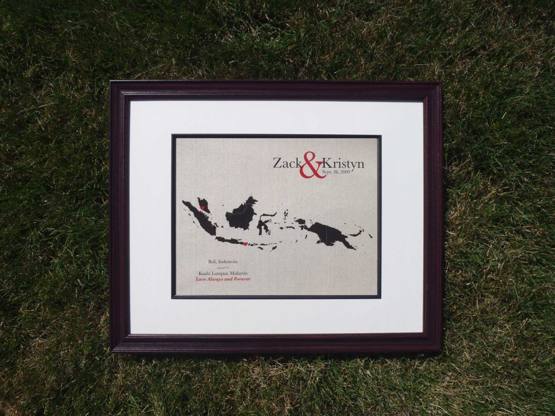 Best wedding anniversary gift idea - 2nd year - cotton print of ...