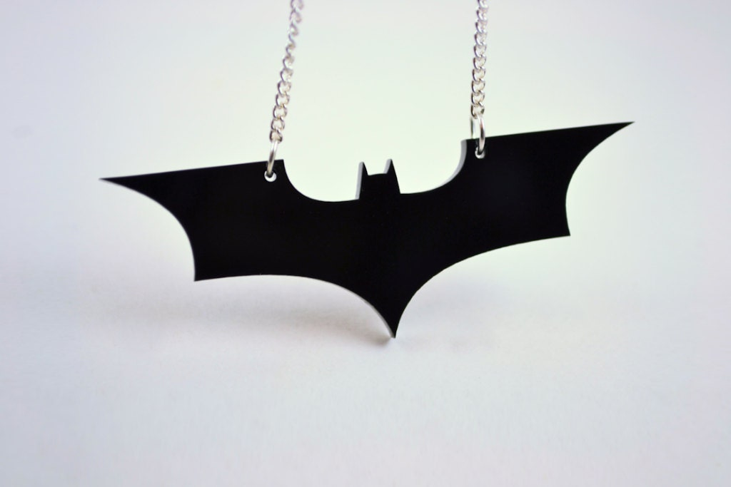 Batman The Dark Knight Rises Pendant Necklace - Sale Price - Laser Cut Acrylic