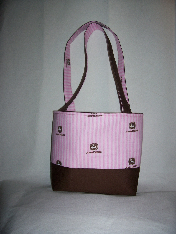 Pink and Brown John Deere Purse