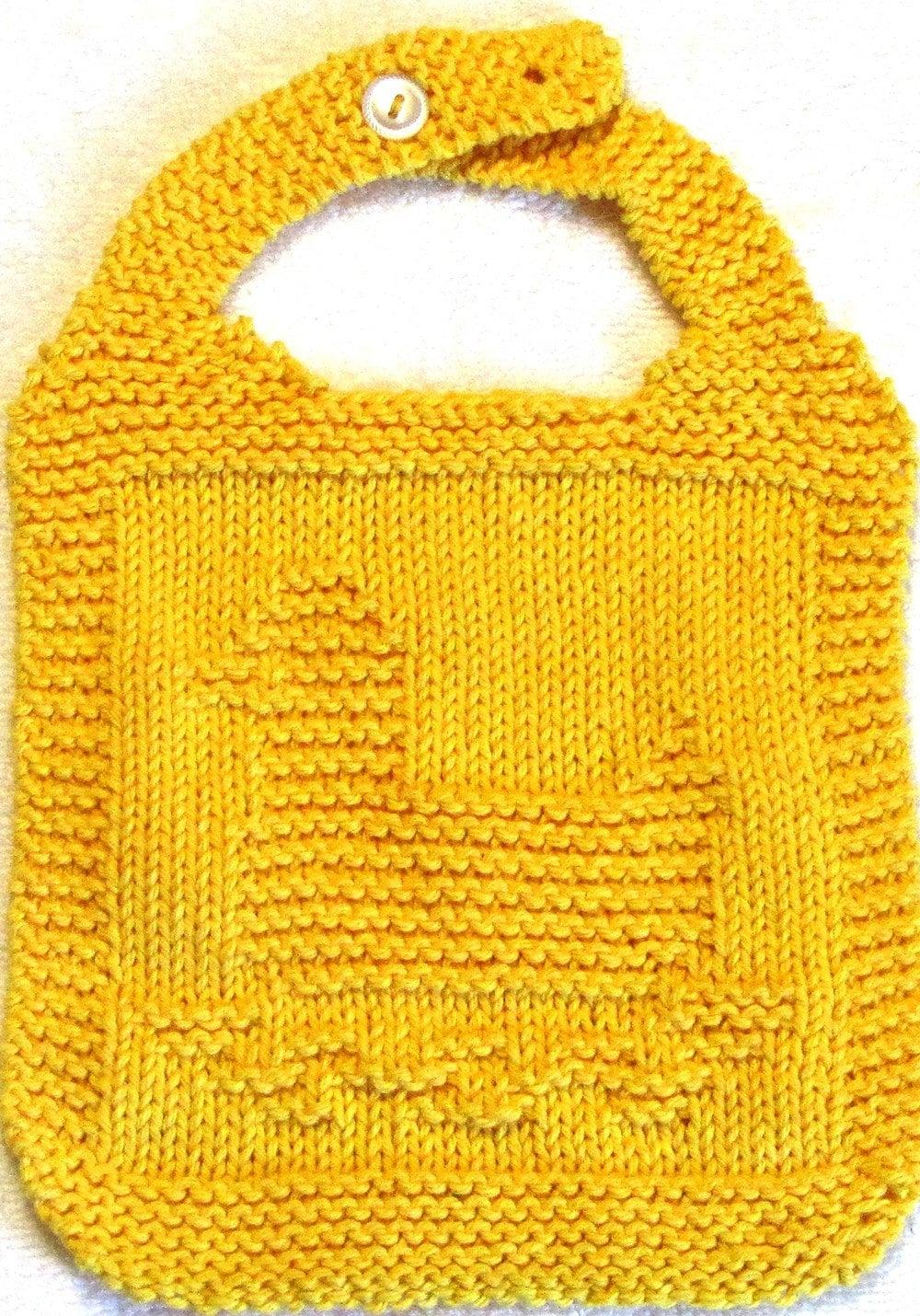 Duck Knitting Pattern : Bib Knitting Pattern RUBBER DUCK PDF by ezcareknits on Etsy