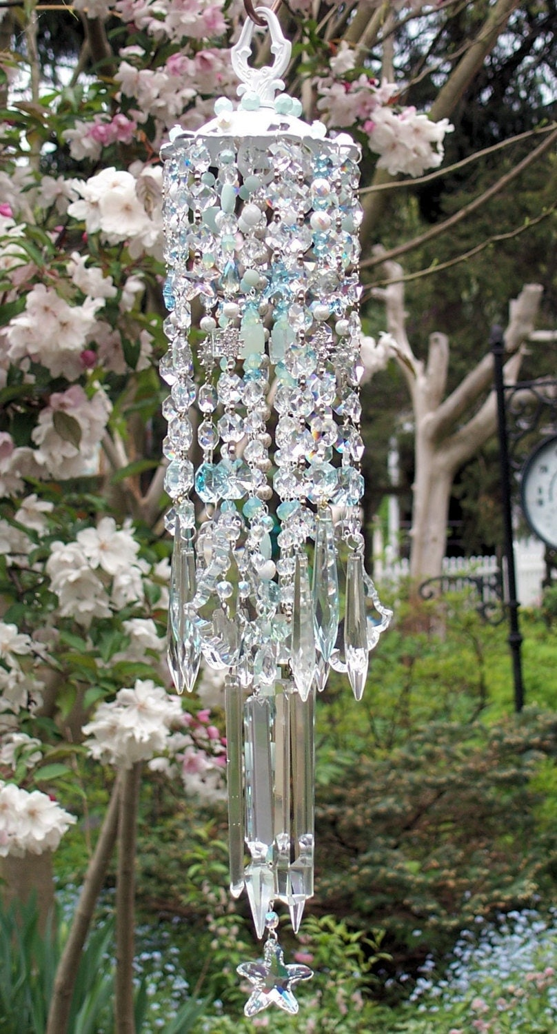 Jewels Of The Sea Antique Crystal Wind Chime