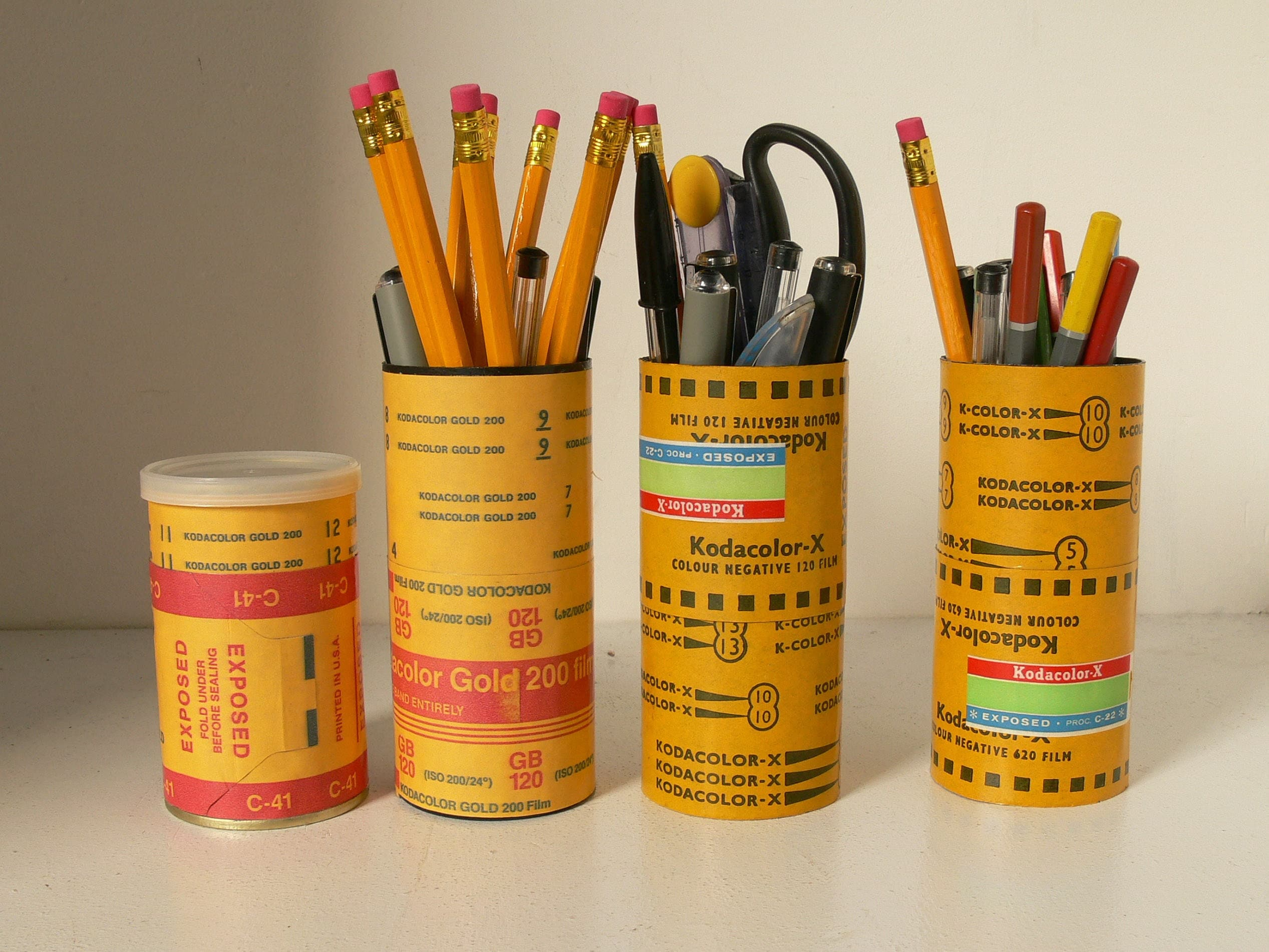 Cute Storage Tins  Canister With 120 Film Decoration  Ideal Pencil Pot Or Desk Tidy
