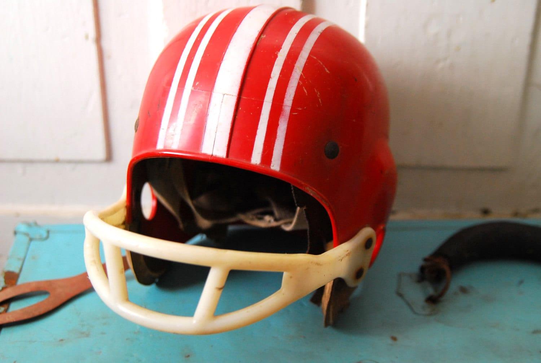 1960s Red Striped Franklin Football Helmet Tom The By