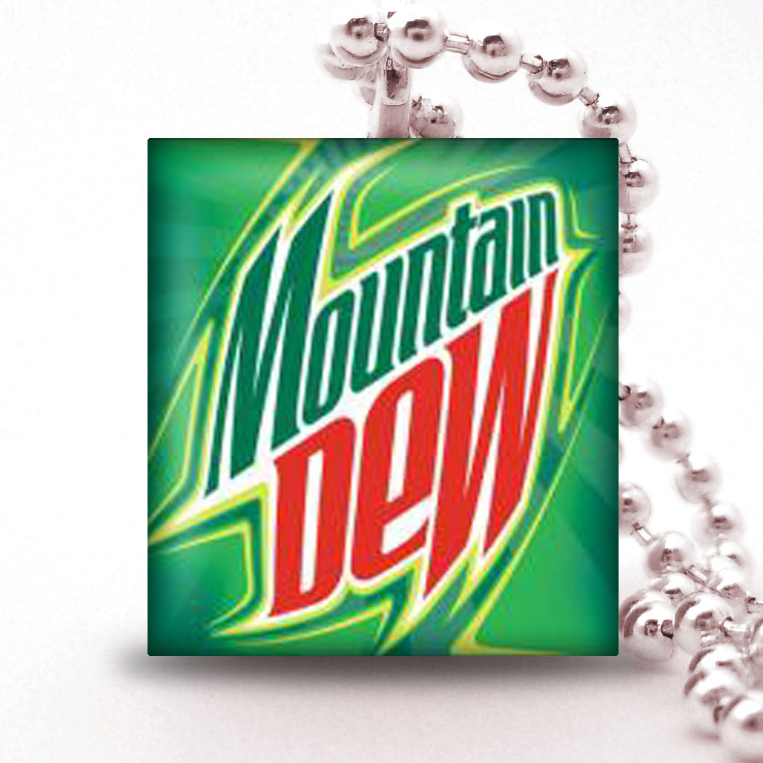 MOUNTAIN DEW - Scrabble Tile Pendant- SoDA PoP CoLLECTION- Buy 2 Pendants Get 1 Free