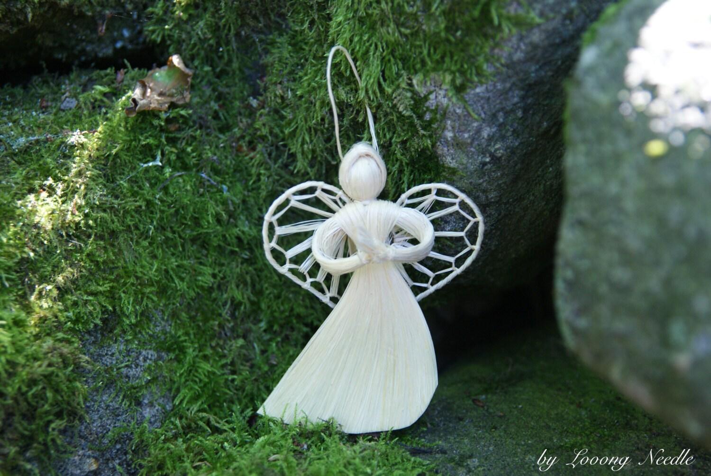 Angel Scandinavian Decoration Ornament Art Accessory Fancy Straw Vintage Toy Birthday Newborn Baby