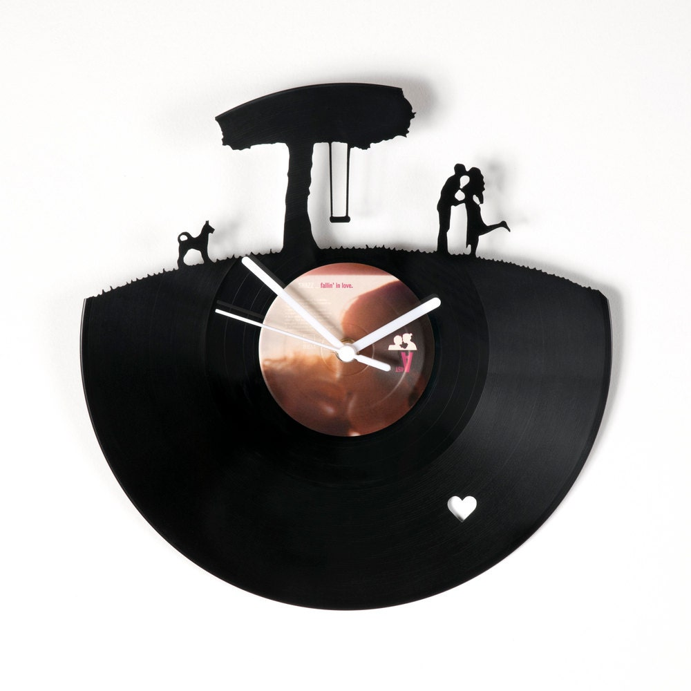Horloge vinyle Amoureux