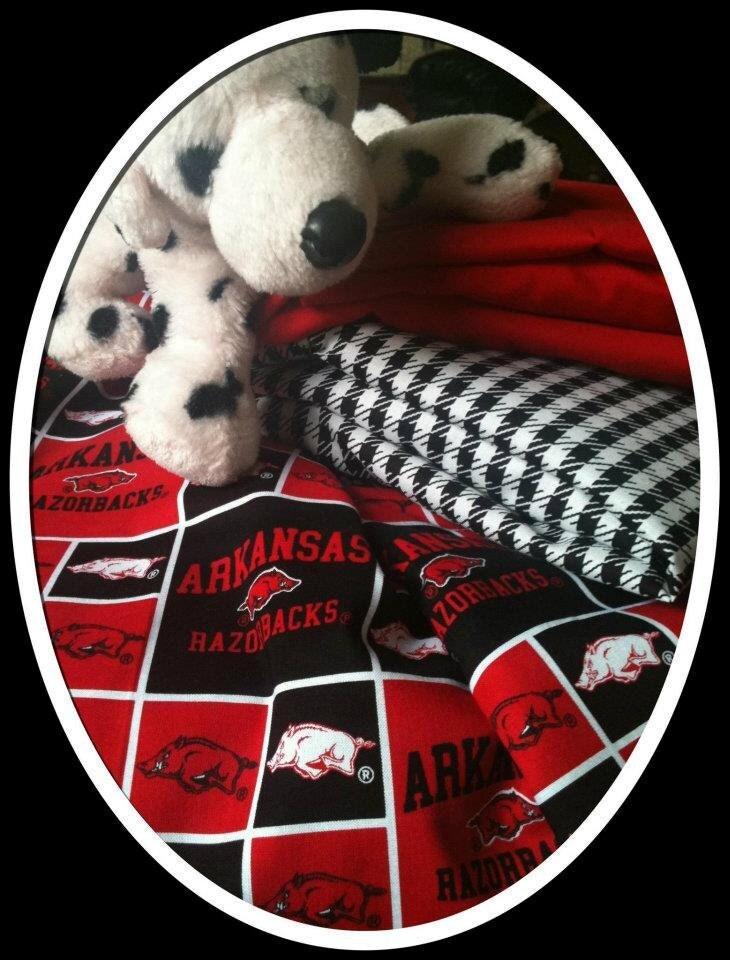 Custom Arkansas Razorback Crib Bedding By Laineybelleboutique