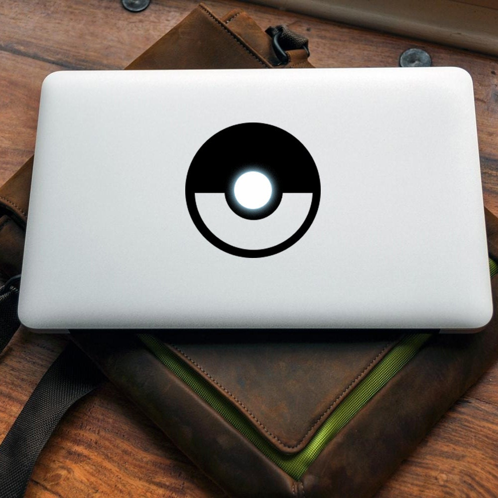 Pokeball decal for MAC or PC sticker print perfect gift for any computer fan! Pokemon Apple