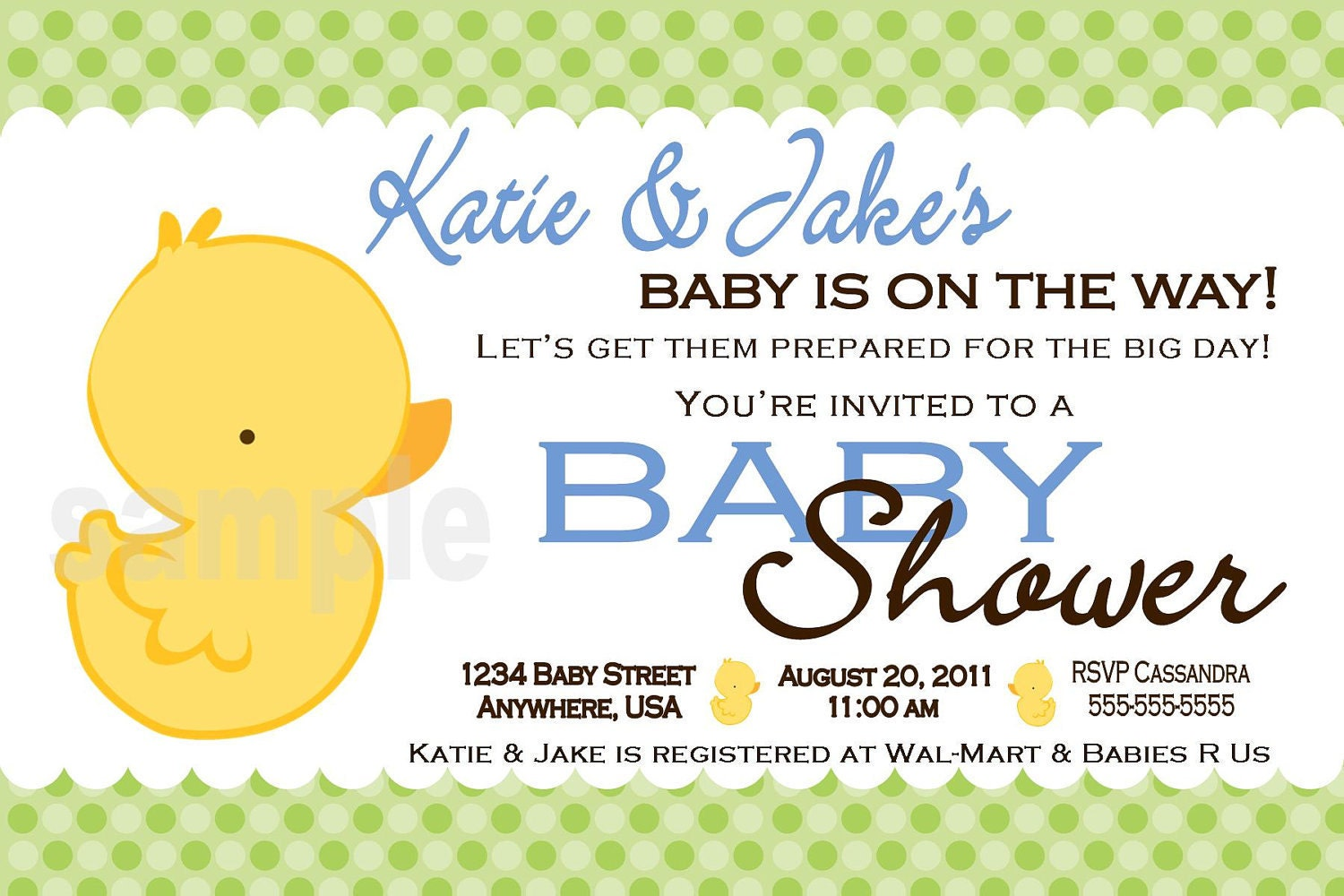 rubber duck baby shower invitations digital printable file
