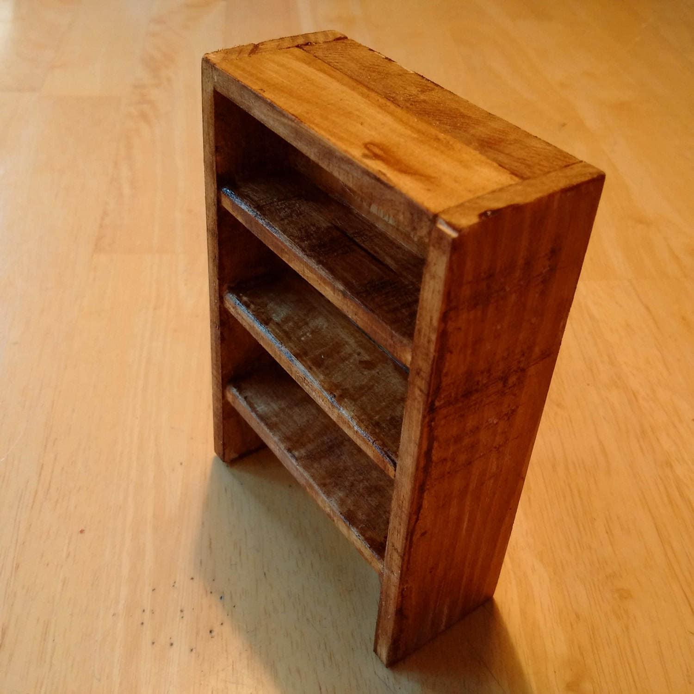 Miniature Wooden Bookshelf 112 for Dolls House