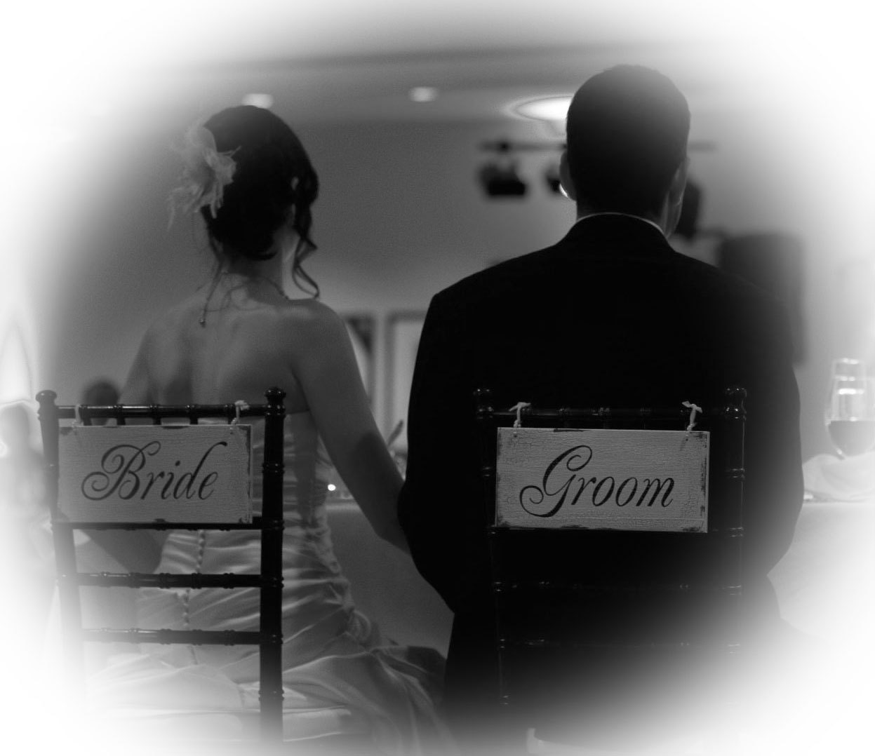 Identify Bridegroom: Bride And Groom Signs One Sided WHITE By MerryMeSigns On Etsy