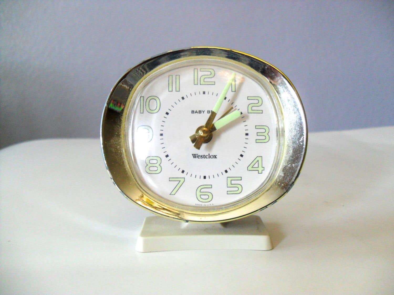 Vintage Alarm Clock Baby Ben Westclox Wind Up By Nevermoregifts