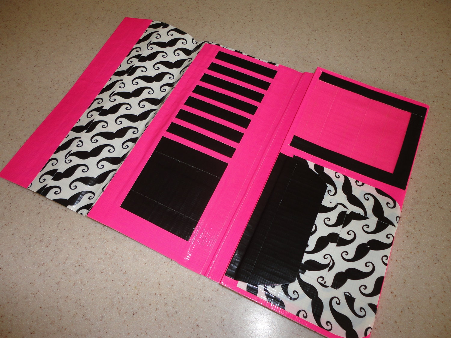 Duct Tape Womens Clutch Wallet Mustache with by LahanaPalencia
