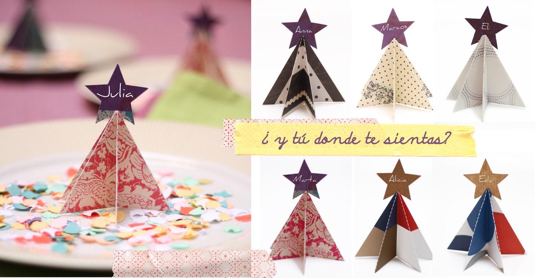 tarjetas mesa de Navidad by Fiesta y chocolate