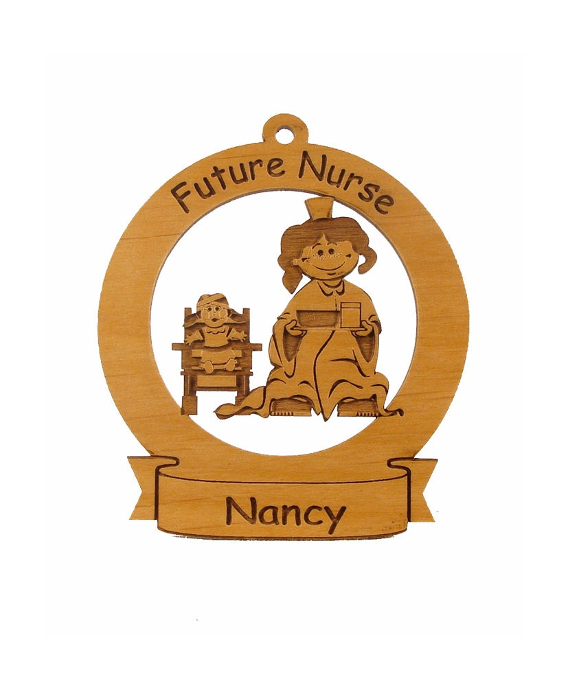 Future Nurse Ornament Personalized with Your Child's Name - gclasergraphics