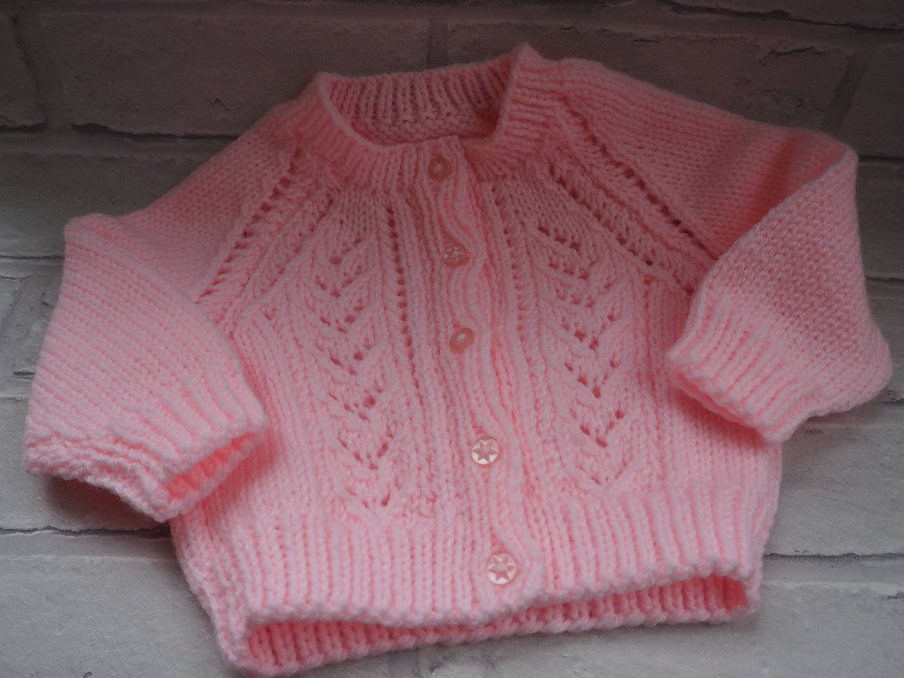new baby gift, pink baby cardigan, knitted baby coat, photo prop, baby jacket, baby shower gift, girls baby cardigan, christening cardigan.