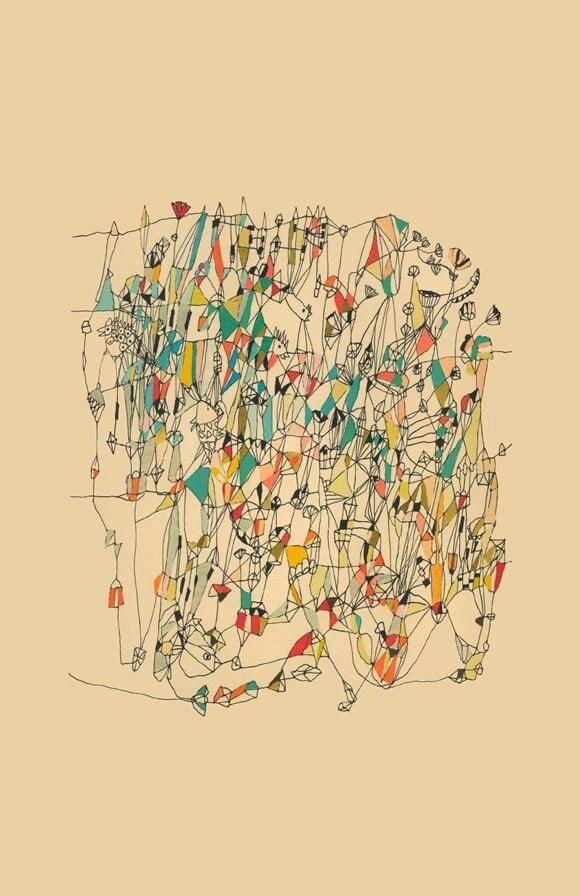 Holiday Sale Circus - abstract art print  mixed media art print colorful fine art print