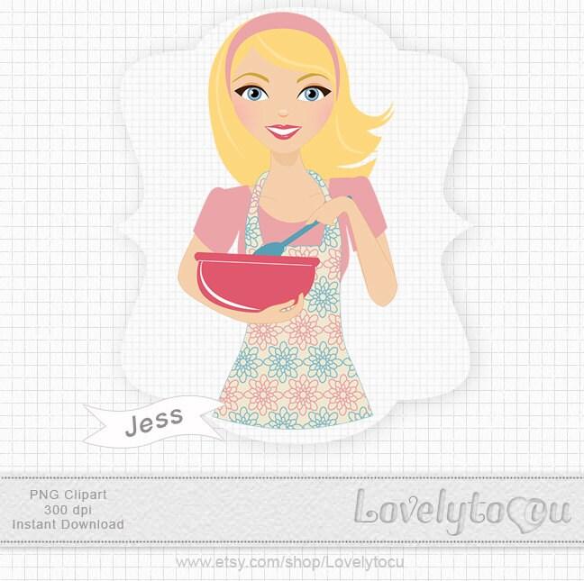 baking clipart  pink mixing bowl  stirring  cooking  kitchen clip    Baking Bowl Clipart