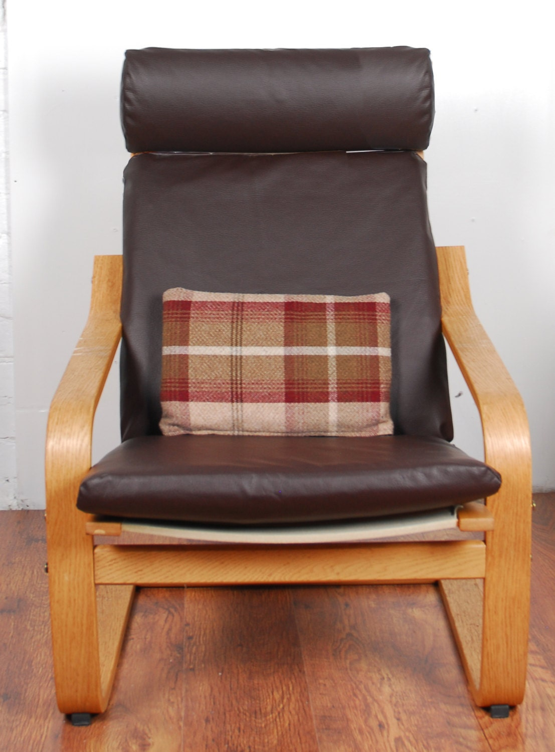 Slip cover for the Ikea poang chair in faux leather fabric
