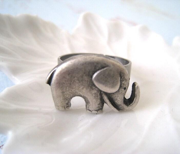 antique silver elephant ring by lunashineshine on etsy