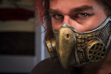 Steampunk Owl Gas Mask Respirator - gryphonsegg
