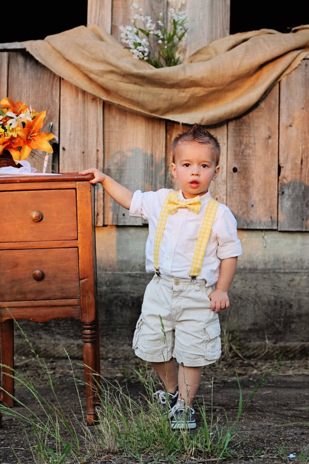 Dockers Toddler & Infants Boys' Shirt, Bow Tie, Suspenders & Pants - Plaid. Sold by Sears. $ Dockers Toddler & Infants Boys' Shirt, Bow Tie, Suspenders & Pants - Plaid. Sold by Sears. $ $ Inktastic Does This Make Me Look Like The Doctor? Infant Dress Bowtie 11th Dr.