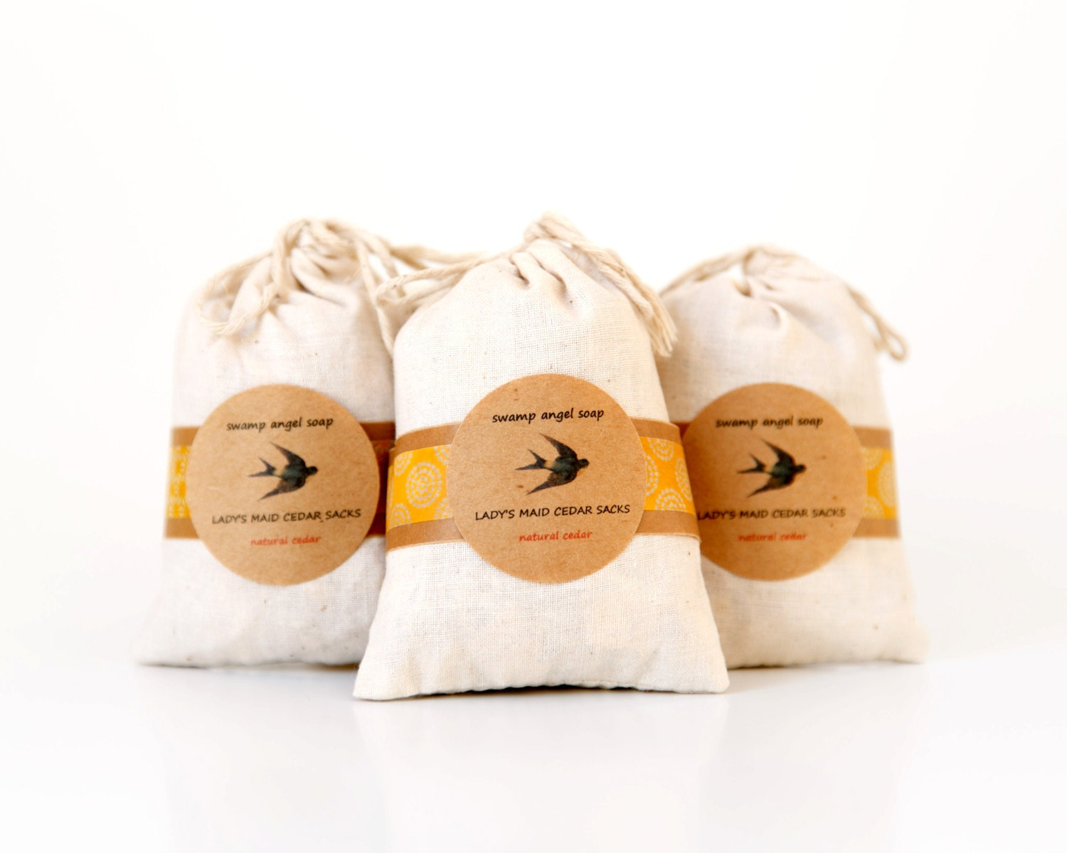 Lady's Maid Cedar Sacks Three-Pack // Natural Clothing Care // Cedar Sachet // Cedar Bags