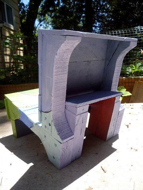 Para niños de madera reciclada Presidente para niños pequeños