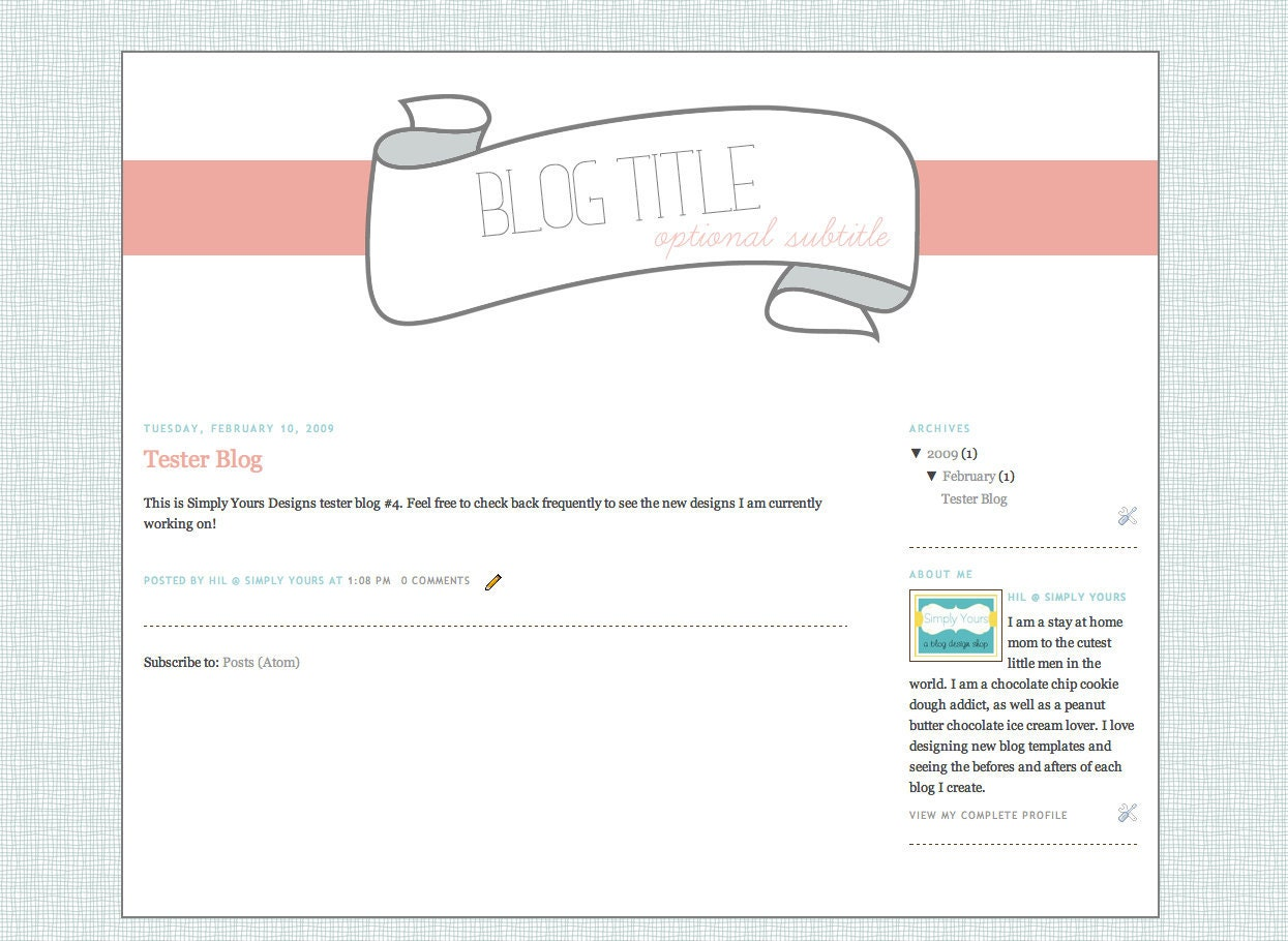 A banner premade template blog design by simplyyoursdesigns for Etsy shop policies template