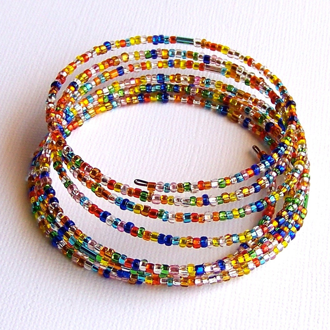 Multi Colored Memory Wire Bracelet