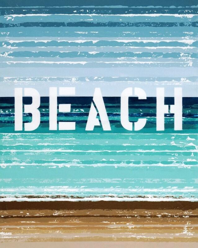 "Beachside 8"" x 10"" Print - kzbykatezitzer"
